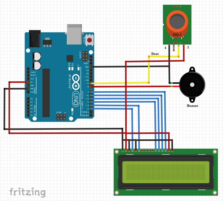 Arduino Interface for Alcohol (MQ-3) Sensor – Mahi's